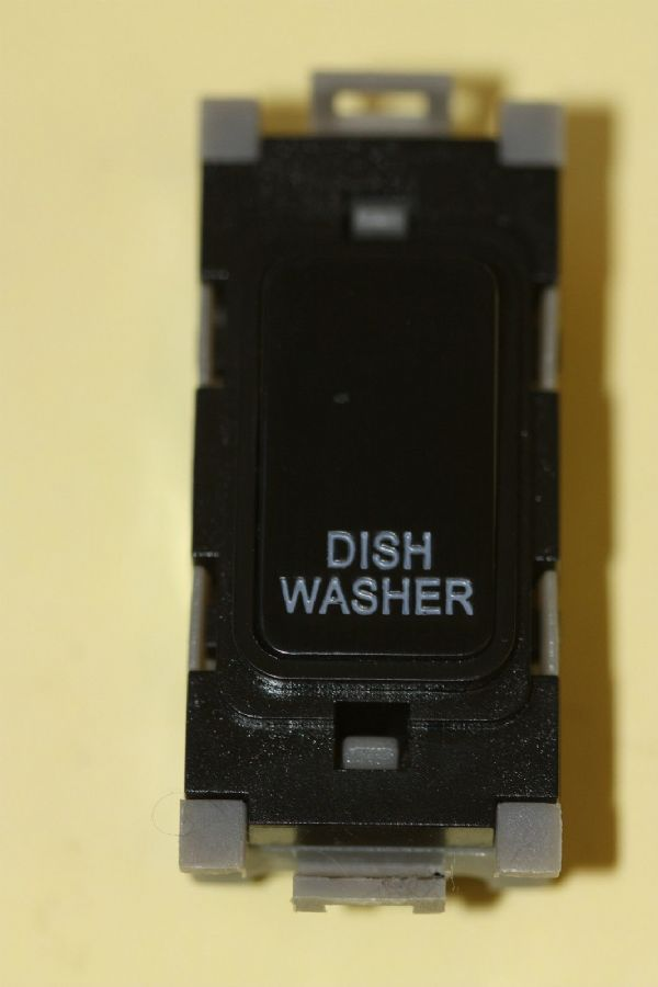 Deta Gridswitch G3556BK Black 20a Double Pole Grid Switch Module Dish Washer New